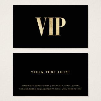 Tarjeta De Visita El negro de lujo y el oro VIP cardan al miembro de