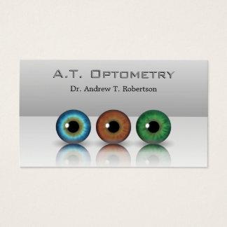 Tarjeta De Visita El optometrista profesional gris calcula