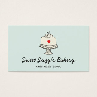 Tarjeta De Visita El panadero lindo de la torta cuece la tienda