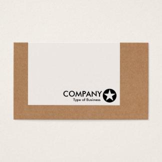 Tarjeta De Visita El panel - estrella - caja de cartón