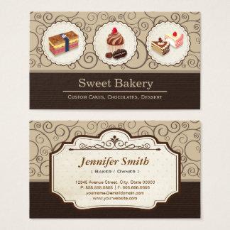 Tarjeta De Visita El personalizado dulce de la tienda de la