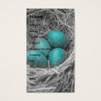 Tarjeta De Visita El petirrojo Eggs Grunge