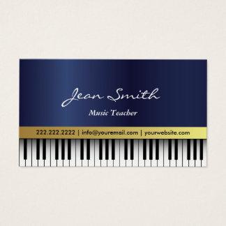 Tarjeta De Visita El piano del azul real del profesor de música