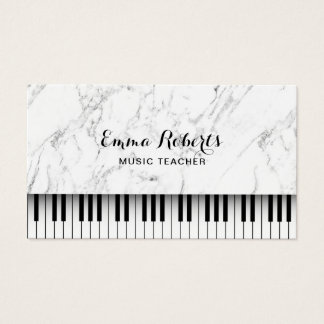 Tarjeta De Visita El piano del profesor de música cierra el mármol