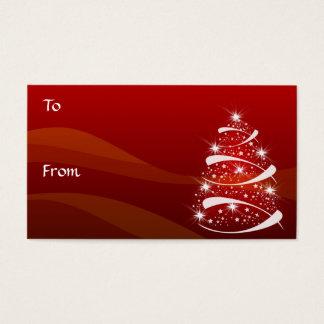 Tarjeta De Visita El regalo del árbol de navidad marca el *TBA con