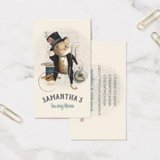 Tarjeta De Visita El Victorian de costura del ratón inspiró el