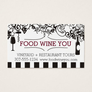Tarjeta De Visita El vino ornamental encanta el viñedo del vino de
