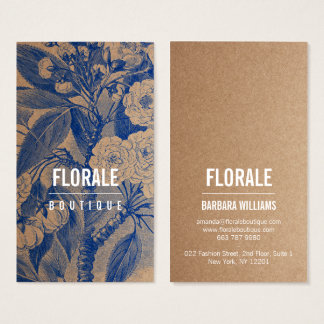 Tarjeta De Visita El vintage elegante moderno del papel marrón