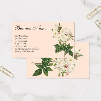 Tarjeta De Visita El vintage florece floral se ruboriza Redoute