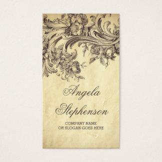 Tarjeta De Visita El vintage lamentable prospera elegante y elegante