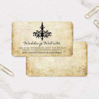 Tarjeta De Visita El Web site de la colección del boda de la lámpara