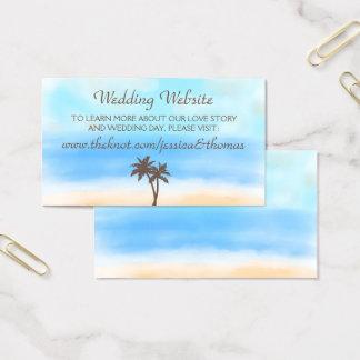 Tarjeta De Visita El Web site de la colección del boda de playa de