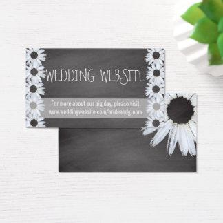 Tarjeta De Visita El Web site del boda de la pizarra carda las