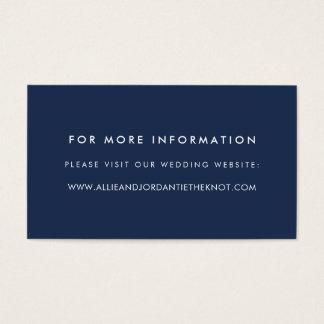 Tarjeta De Visita El Web site moderno del boda carda a la marina de
