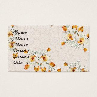 Tarjeta De Visita El Wildflower de la amapola de California florece