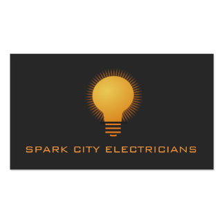 Tarjeta de visita eléctrica de la electricidad del