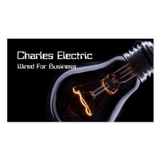 Tarjeta de visita eléctrica de la electricidad del tarjetas de visita