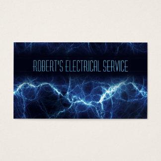 Tarjeta de visita eléctrica del electricista del