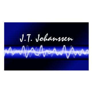 Tarjeta de visita eléctrica moderna de DJ del