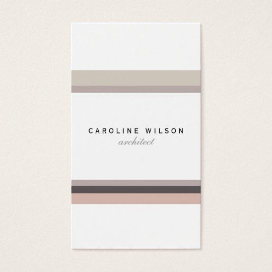 Tarjeta De Visita Elegant feminine minimalist modern white pink line