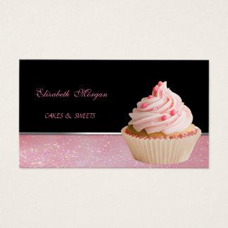 Tarjeta De Visita Elegante adorable lindo, panadería de la magdalena