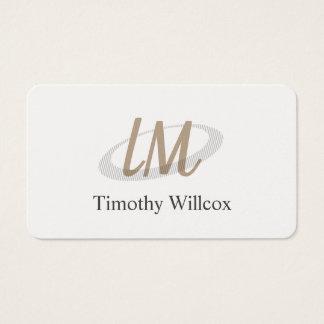 Tarjeta De Visita Elegante blanco