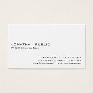 Tarjeta De Visita Elegante blanco profesional moderno de