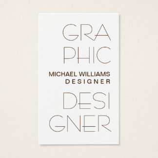 Tarjeta De Visita Elegante Blanco Simple Diseño Gráfico Profesional