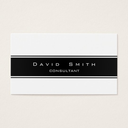 Tarjeta De Visita Elegante blanco y negro moderna  profesional