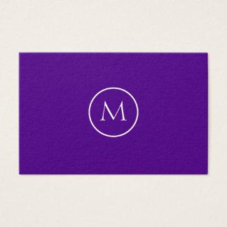 Tarjeta De Visita Elegante con monograma minimalista del añil