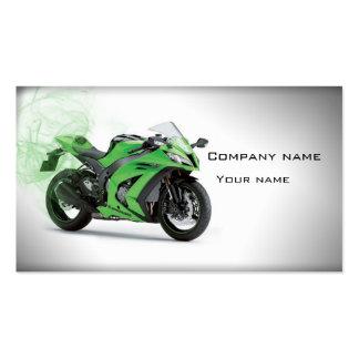Tarjeta de visita elegante de la motocicleta