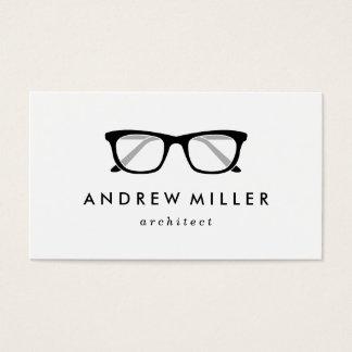 Tarjeta de visita elegante de las lentes retras