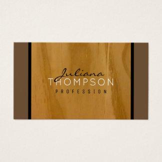 Tarjeta De Visita elegante de madera rústico