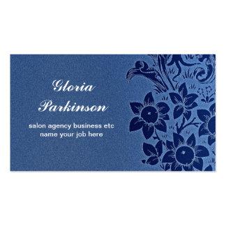 tarjeta de visita elegante de moda azul