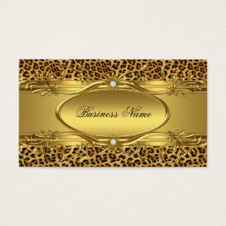 Tarjeta De Visita Tarjeta de visita elegante del estampado leopardo
