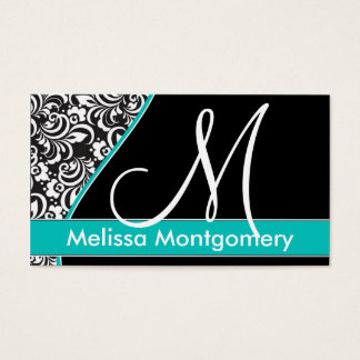 Tarjeta de visita elegante del monograma - trullo