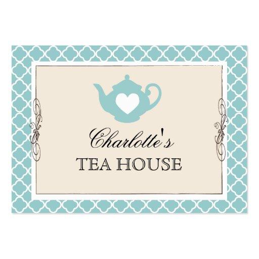 Tarjeta de visita elegante del té de la tetera del