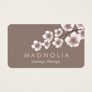 Tarjeta de visita elegante del zen del rosa tarjeta de visita