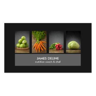 Tarjeta de visita elegante moderna del cocinero de tarjetas de visita