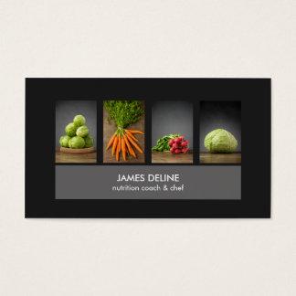 Tarjeta de visita elegante moderna del cocinero de
