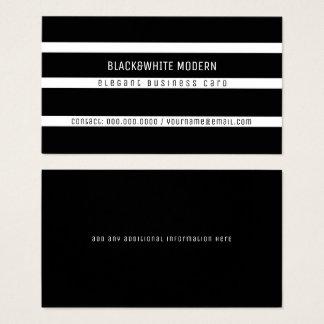 Tarjeta De Visita elegante moderno rayado del black&white