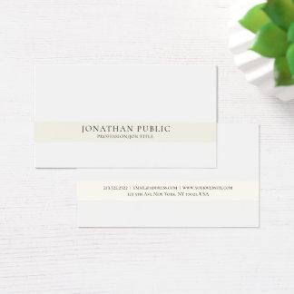 Tarjeta De Visita Elegante simple profesional moderno creativo