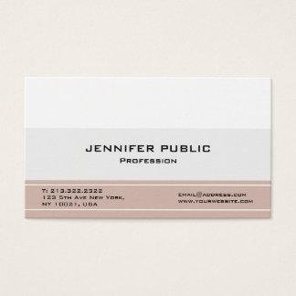 Tarjeta De Visita Elegantes profesionales modernos crean sus los