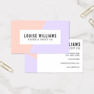 Tarjeta de visita en colores pastel de neón de la tarjeta de visita