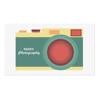 Tarjeta de visita en colores pastel minimalista de
