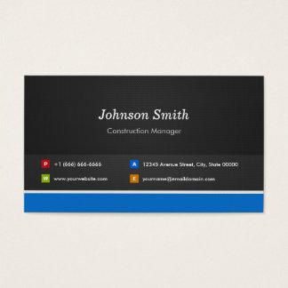 Tarjeta De Visita Encargado de la construcción - personalizable