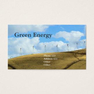 Tarjeta De Visita Energía verde