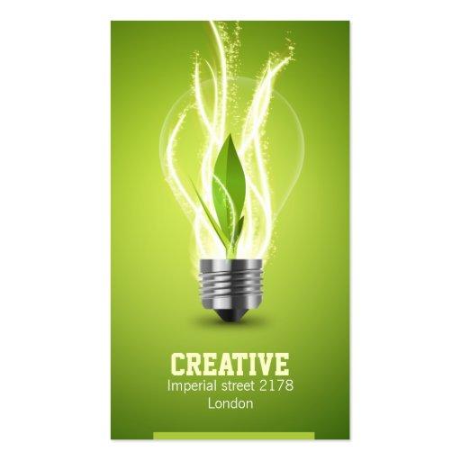 tarjeta de visita energic creativa del bulbo