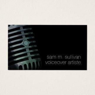 Tarjeta De Visita Entretenimiento del micrófono del vintage del