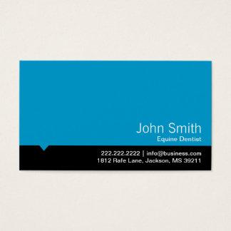 Tarjeta de visita equina azul moderna del dentista
